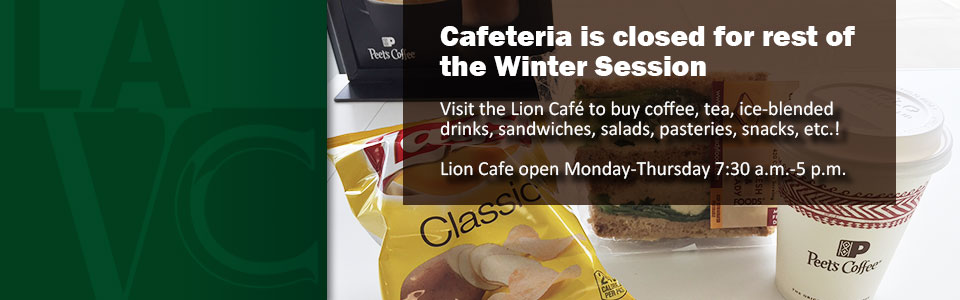 Hungry? Stop by the Lion Café!Visit the Lion Café to buy coffee, tea, ice-blended 
