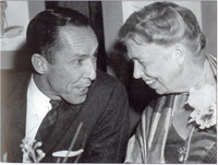 President Coultas with Eleanor Roosevelt
