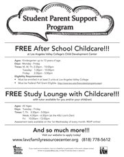Looking for Free After School Childcare is Available for LAVC Student Parents!