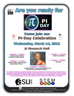 Pi-Day Celebration - Student Clubs Exhibits, Pi Runner & Other Games