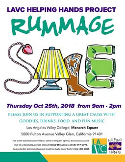 Rummage Sale for the LAVC Helping Hands Project