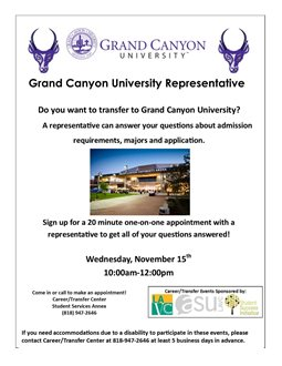 Grand Canyon University Admissions Representative