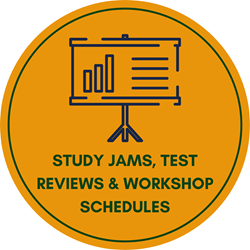 Study Jams, Test reviews, and workshop schedules