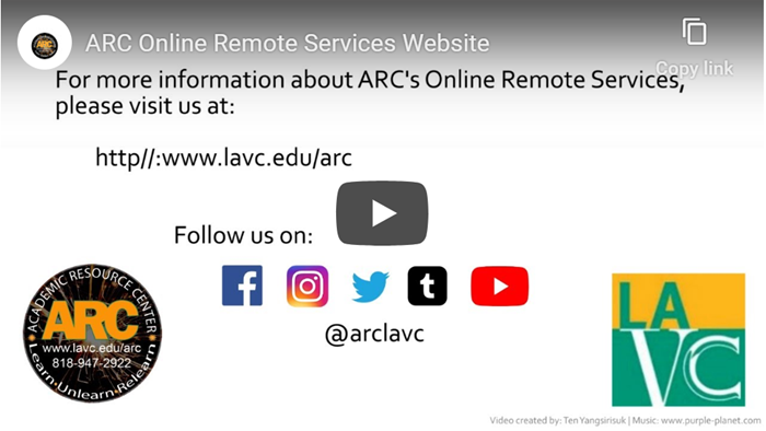 Picture of social media for ARC