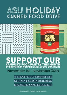 ASU Holiday Canned Food Drive