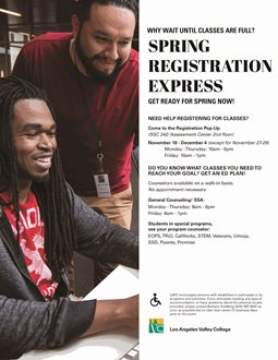 Spring Registration Express - Registration Pop-Up