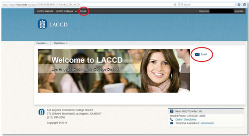 Student Email Onedrive Access Los Angeles Valley College