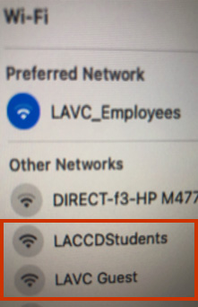 Campus WiFi options as shown in Windows 7