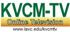 The logo of KVCM TV