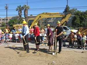 VIPs breaking ground on the CDFC