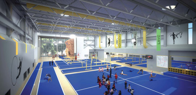 Rendering of Gymnastics Area