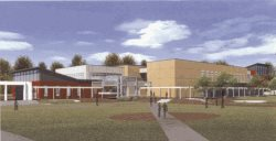 Rendering of Library & Academic Resource Center