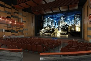 Rendering of the Theater interior in the Valley Academic & Cultural Center
