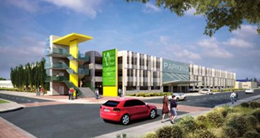 Rendering of Parking Garage