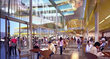 Artist rendering of Student Union interior
