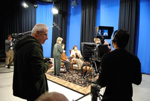 Picture of Man Filming in TV Studio
