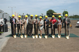 Ground breaking for M&O building
