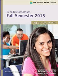 Cover for Fall 2015 schedule